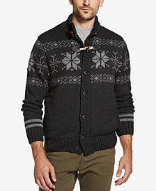 Weatherproof Vintage Men's Fair Isle Sweater Jacket