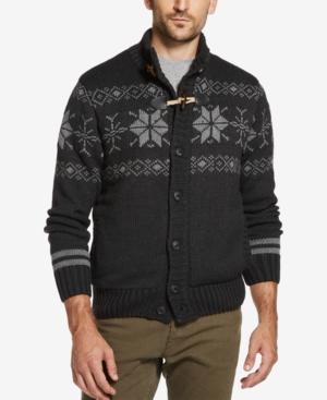 Men's Vintage Sweaters – 1920s to 1960s Retro Jumpers Weatherproof Vintage Mens Fair Isle Sweater Jacket $62.50 AT vintagedancer.com