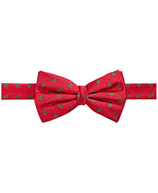 Lauren Ralph Lauren Big Boys Christmas Tree-Print Silk Bowtie