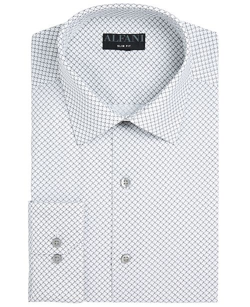 Alfani Assorted AlfaTech by Men's Slim-Fit Performance Stretch Easy-Care Dress Shirts, Created for Macy's