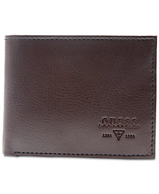 GUESS Men's Sedona Zip-Pocket RFID Leather Wallet