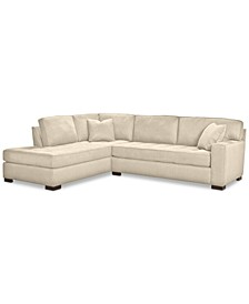 "CLOSEOUT! Dartford 114"" 2-Pc. Fabric Sectional, Created for Macy's"