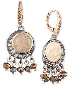 lonna & lilly Two-Tone Crystal & Bead Drop Earrings