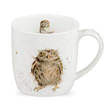 """Portmeirion  Wrendale 11 oz. Owl Mug """"What a Hoot"""" - Set of 6"""