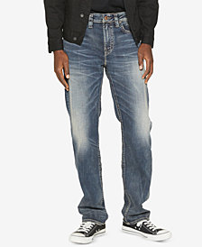 Silver Jeans Co. Mens Grayson Straight-Fit Straight Jeans