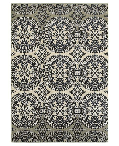 "Oriental Weavers Linden 7818A Navy/Ivory 1'10"" x 3' Area Rug"