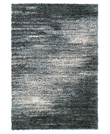 "D Style Jackson Shag Reflection Charcoal 9'6"" x 13'2"" Area Rug"