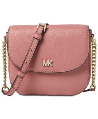 michael kors pebble leather half dome crossbody handbags rh macys com
