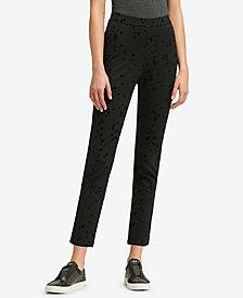 DKNY Velvet Star-Print Pants, Created for Macy's