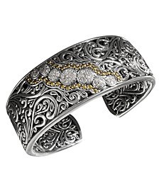 Balissima by EFFY® Diamond Round Swirl Diamond Cuff (1/4 ct. t.w.) in 18k Gold and Sterling Silver