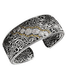 Balissima by EFFY Diamond Round Swirl Diamond Cuff (1/4 ct. t.w.) in 18k Gold and Sterling Silver