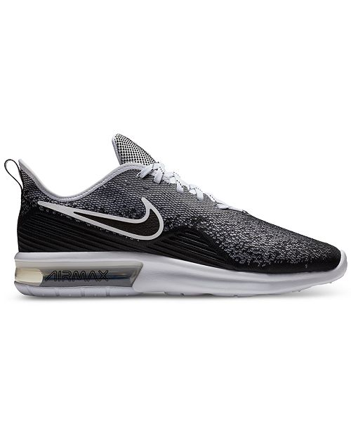 hot sale online d6ab9 45d5c ... Nike Men s Air Max Sequent 4 Running Sneakers from Finish ...