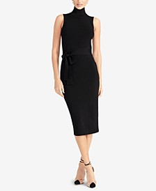 Sleeveless Turtleneck Bodycon Dress