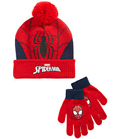 Spider-Man Little & Big Boys 2-Pc. Hat & Gloves Set