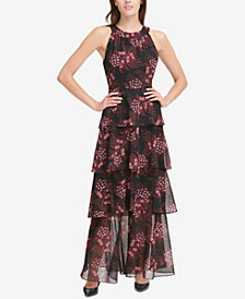 Tommy Hilfiger Printed Tiered Maxi Dress