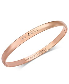 Rose Gold-Tone Be Bold Bangle Bracelet