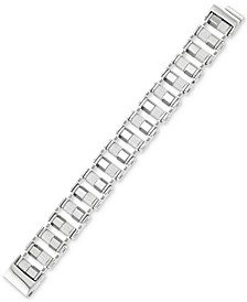 Barrel Link Bracelet in Stainless Steel