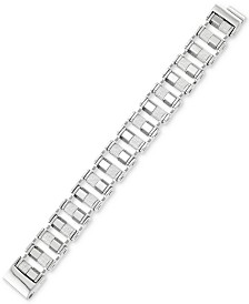 LEGACY for MEN by Simone I. Smith Barrel Link Bracelet in Stainless Steel