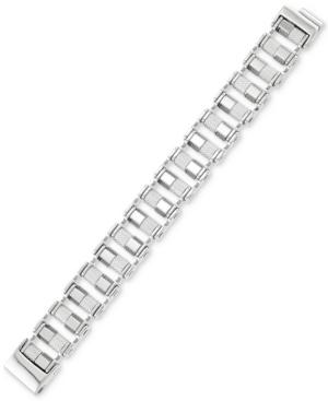 Smith Barrel Link Bracelet in Stainless Steel