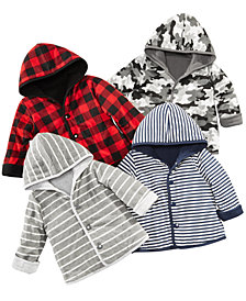 First Impressions Baby Boys Reversible Hooded Jackets, Created for Macy's