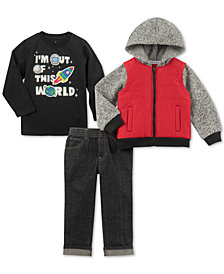 Kids Headquarters Toddler Boys Out of This World 3-Pc. Shirt, Jeans & Jacket Set