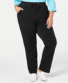 Karen Scott Plus Size Pull-On Pants, Created for Macy's