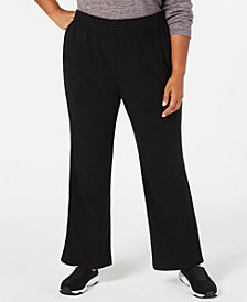 Karen Scott Plus Size Microfleece Pull-On Pants, Created for Macy's