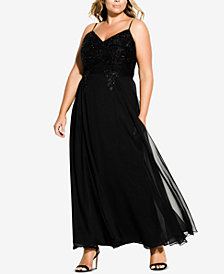 City Chic Trendy Plus Size Embellished Gown