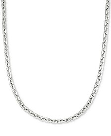"Smooth Box Link 24"" (7 mm thick) Chain Necklace in Stainless Steel"