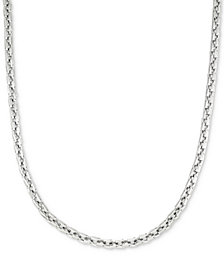 "LEGACY for MEN by Simone I. Smith Smooth Box Link 24"" (7 mm thick) Chain Necklace in Stainless Steel"