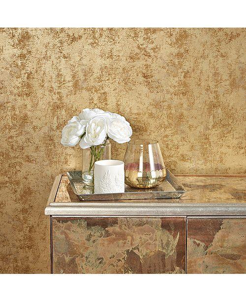 Tempaper Distressed Gold Leaf Self-Adhesive Wallpaper