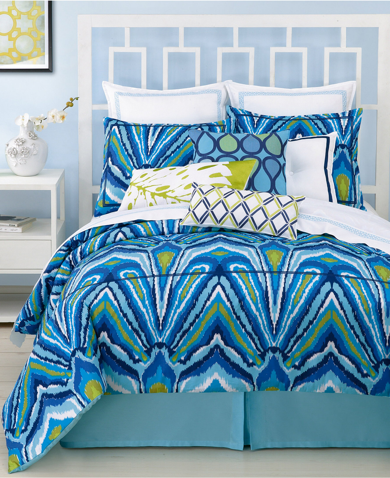 Blue bedspreads and comforters - Trina Turk Blue Peacock Comforter And Duvet Cover Sets Bedding Collections Bed Bath Macy S