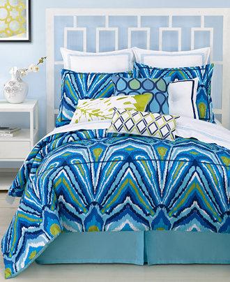 Closeout Trina Turk Blue Peacock Comforter And Duvet
