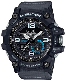 G-Shock Men's Analog-Digital Mudmaster Gray Resin Strap Watch 52mm