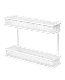 2 Tier Countertop and Wall Mount Multipurpose Spice Rack Organizer