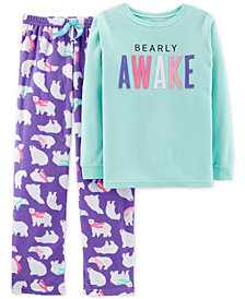 Carter's Little & Big Girls 2-Pc. Fleece Polar Bear Pajama Set