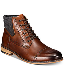 Bar III Men's Carter Leather Dress Boots, Created for Macy's