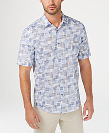 Alfani Men's Geometric-Print Shirt, Created for Macy's
