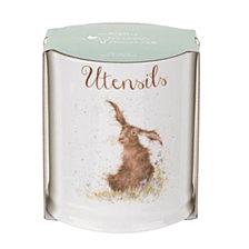 """Portmeirion Wrendale Rabbit Utensil Canister """"Harebells"""""""