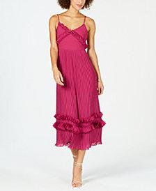 foxiedox Ruffled Pleated Midi Dress