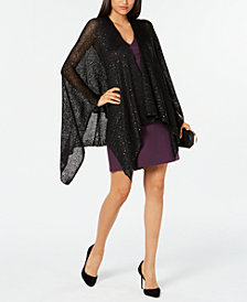 I.N.C. Sequined Knit Evening Wrap, Created for Macy's