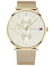 Women's Gold-Tone Stainless Steel Mesh Bracelet Watch 40mm Created for Macy's