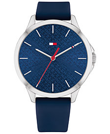 Tommy Hilfiger Women's Navy Blue Silicone Strap Watch 38mm, Created for Macy's