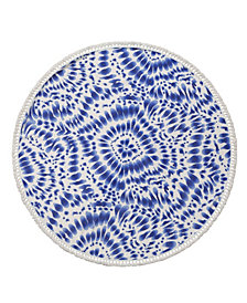 Indigo Round Turkish Cotton Beach Towel