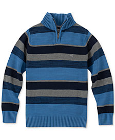 Calvin Klein Big Boys Phoenix Stripe Quarter-Zip Sweater
