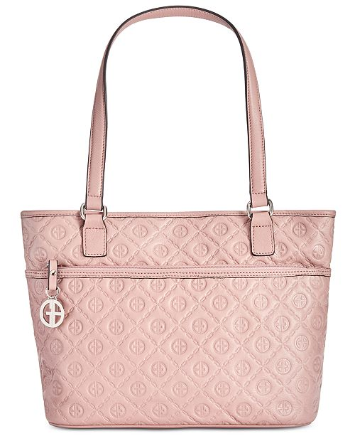 Giani Bernini Embossed Logo Tote, Created for Macy's