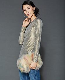 Chain-Strap Fox Fur Handbag