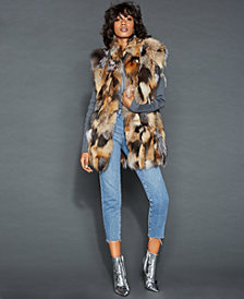 The Fur Vault Stand-Collar Fox Fur Vest