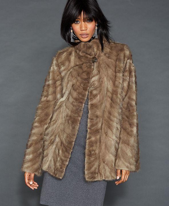 The Fur Vault Wing-Collar Mink Fur Jacket