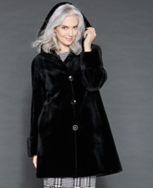 The Fur Vault Reversible Sheared Mink Fur Coat